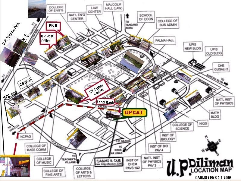 Click & Save the U.P. Diliman Location map